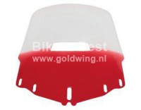 Windshield GL1800 with red tinted lower side and air vent hole.use vent from your old windscreen
