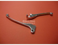 Brake and clutch lever set GL1100 chrome for 4 holes mastercylinder with small brakeswitch push pin !!