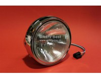Chroom metalen koplamp met glas 180mm diameter ( P 20010818 )