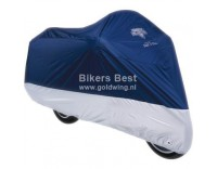 Motorcycle cover specially made for Goldwing and Valkyrie Interstate models  Blue/Silver
