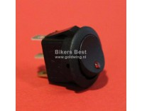 Universal swivel switch with red LED light