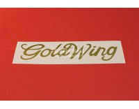 Goldwing GL 1500 text vinyl sticker, width 15 cm. color: gold