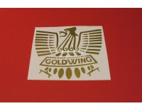 Goldwing eagle vinyl sticker width: 15 cm. color: gold