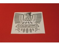 Goldwing eagle vinyl sticker width: 15 cm. color: silver