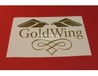 Goldwing sticker vinyl width 25 cm. color: gold
