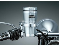 Stainless steel drinkholder and cup for Goldwing, left or right side handlebar mount ( 1463 ) ( P 06030402 )