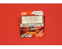 Battery for alarm remote control 6 V - 11 A