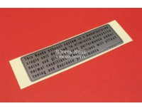 # 87504-028-670 - Frame sticker uitlaat GL1000 modellen