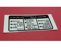 # 87560-375-680ZE  Tank lid sticker GL1000/1100/1200  black