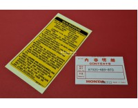 # 87520-463-77 Sticker in Deksel GL1100 warning....