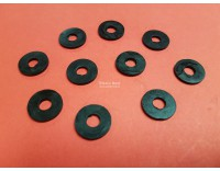 Rubber rings 15 mm - 1.5 mm high 10 pieces
