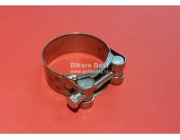 Stainless steel exhaust clamp diameter 47-51 mm