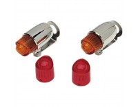 Pony lamps set with red and orange lenses for the right retro look!