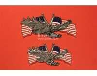 Big adhesive emblem USA Eagle 11 x 7 cm chrome