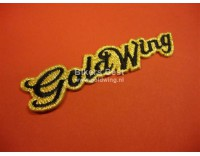 Goldwing script badge  emboidered, size 10 x 2.2 cm.