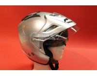 Goldwing helmet silver metallic with sunglasses, shield and sunvisor. For sizes click on picture !