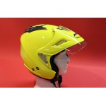 Goldwing helmet fluor yellow with sunglasses, shield and sunvisor. For sizes click on the picture !