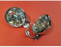 Trike lampsset chrome with E-mark with clear glass ( 20010099 )