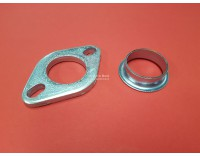 Exhaust bend mounting flange set GL1000/1100/1200 with motad or Jama outlet